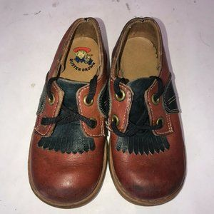 VTG Buster Brown Toddler Kids Leather Lace Up 6.5